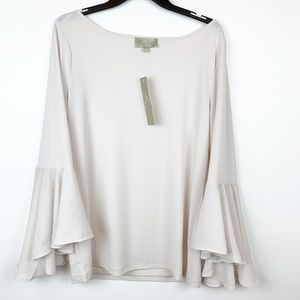 JOAN VASS STRETCHY BELL SLEEVE TOP SIZE LARGE